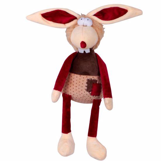Hračka pro psa - plyšový králík pískací 30 cm