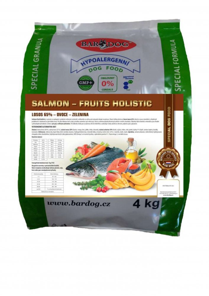 Bardog Salmon Fruits Holistic 4 kg