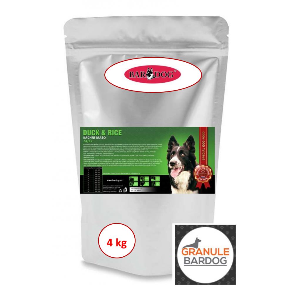 Bardog Super prémiové granule Duck Rice 24/12 4 kg
