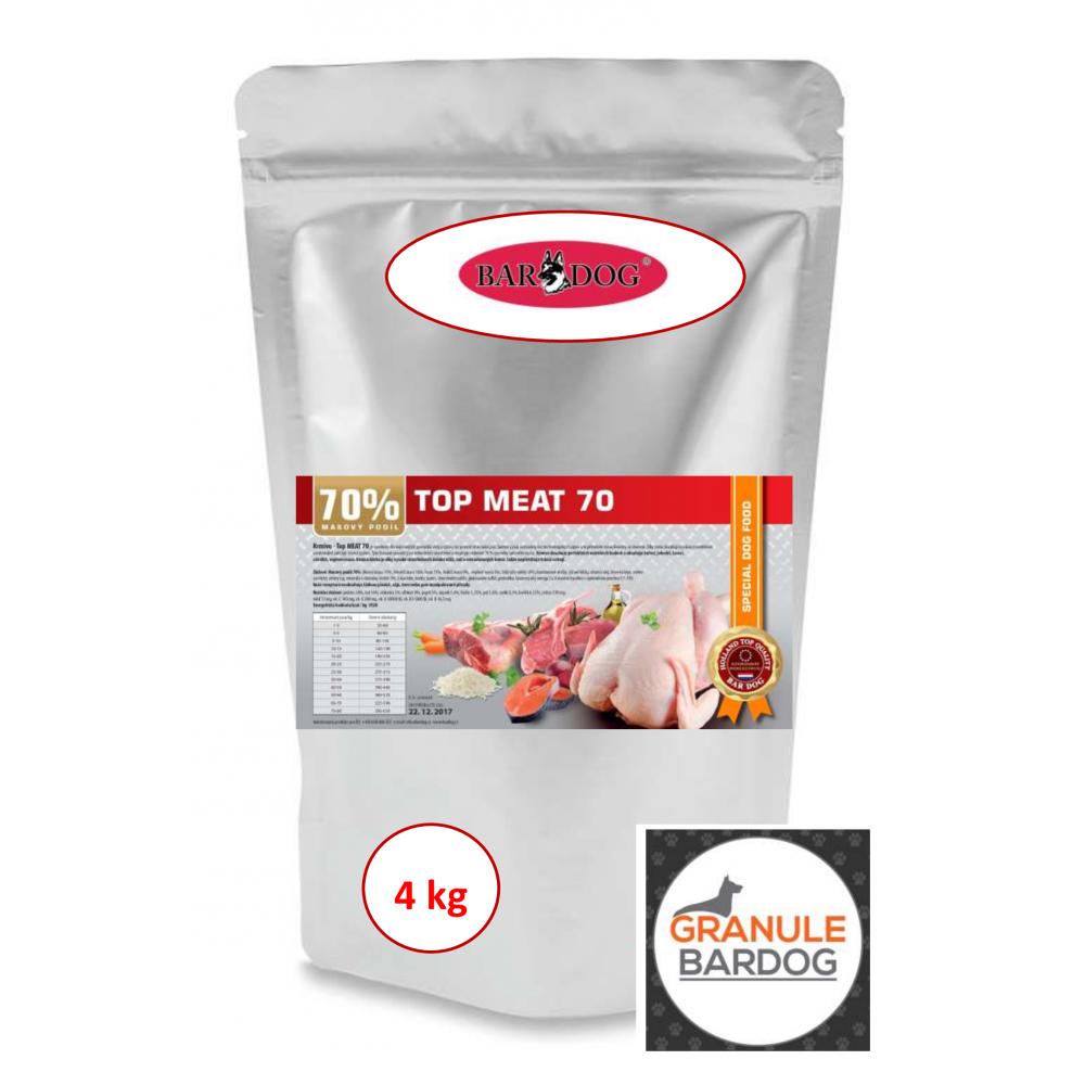Bardog Lisované granule za studena Top Meat 70 4 kg