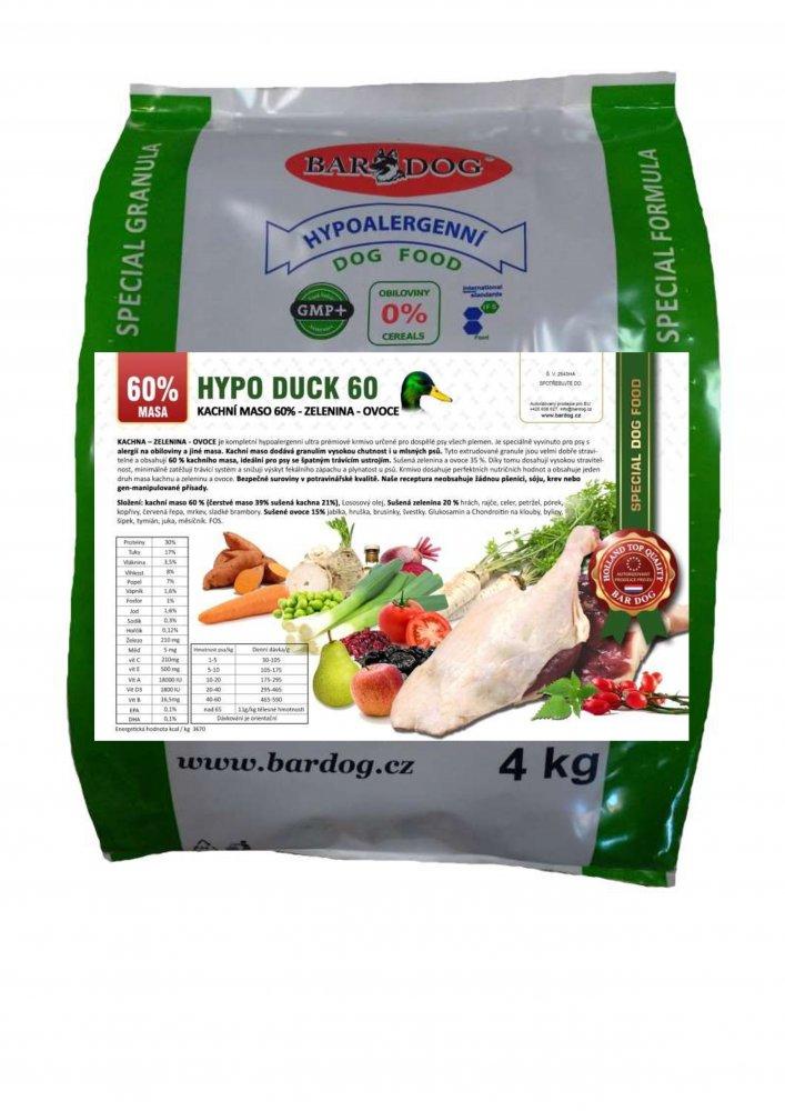 Bardog Hypoalergenní granule Hypo Duck 60 - 30/17 4 kg