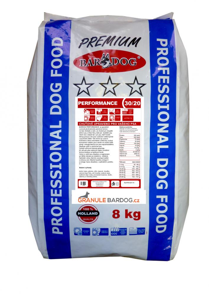 Bardog Prémiové granule Performance 30/20 - 8 kg