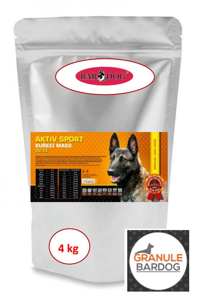 Bardog Super prémiové granule Aktiv sport 32/22 4 kg