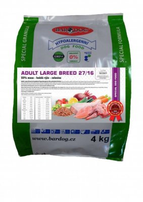 Hypoalergenné granule Adult Large Breed 27/16