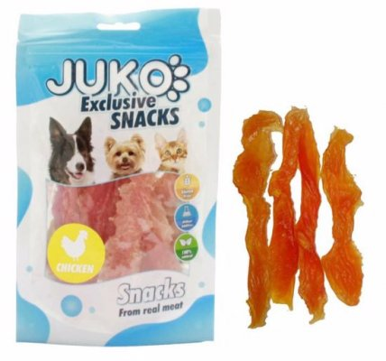 Snack SOFT Chicken Jerky made by hand 70g