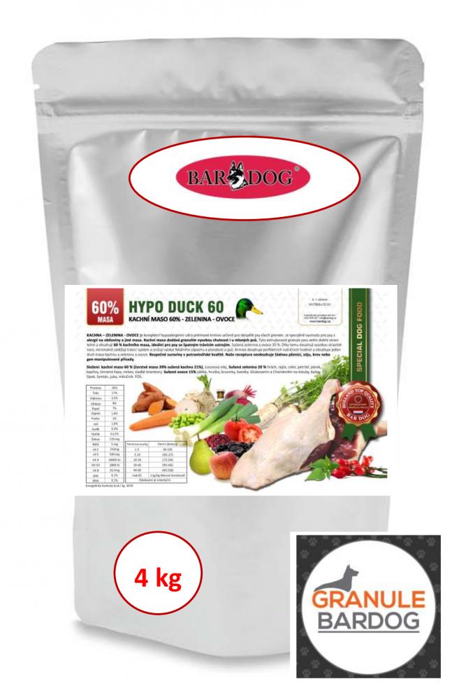 Bardog Hypoalergenní granule Hypo Duck 60 - 30/17 - 4 kg