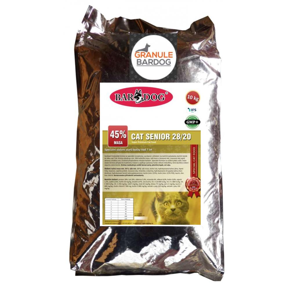 Bardog Super prémiové krmivo Cat Senior 28/20 10 kg