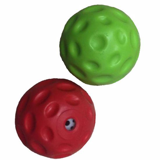 Plávacie loptička so zvukom z termoplastickej gumy 7 cm