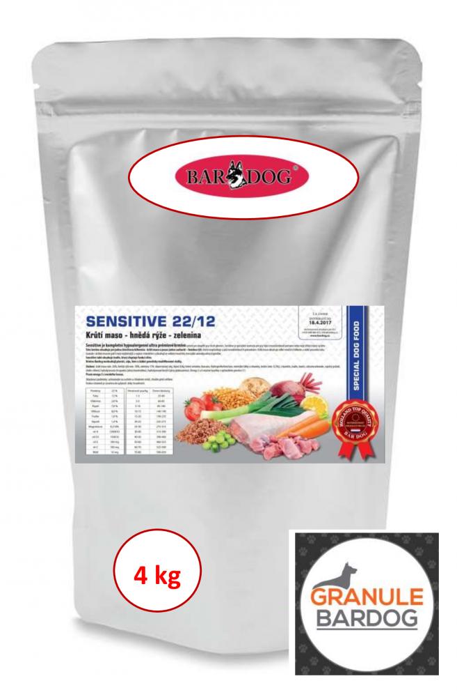 Bardog Hypoalergenní granule Sensitive 22/12 - 4 kg