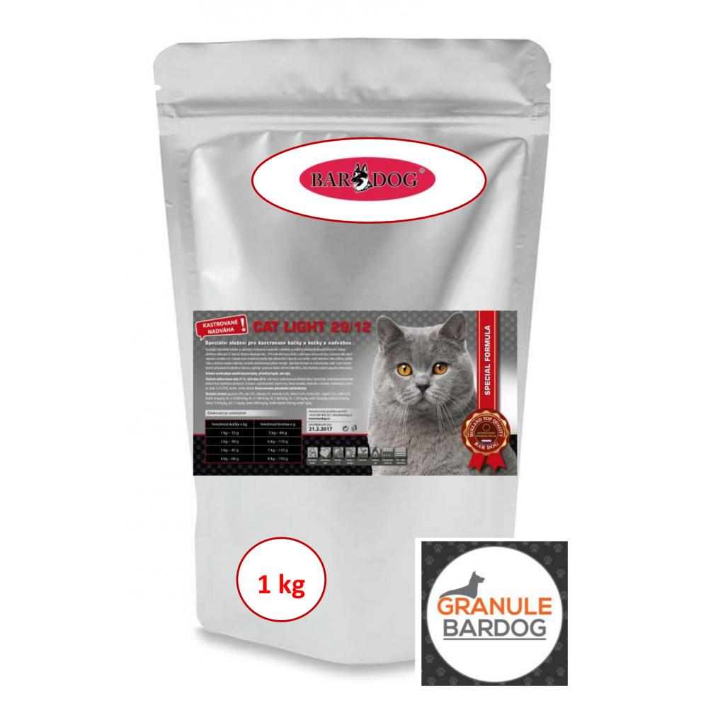 Bardog Super prémiové krmivo pro kočky Cat Light 29/12 1 kg