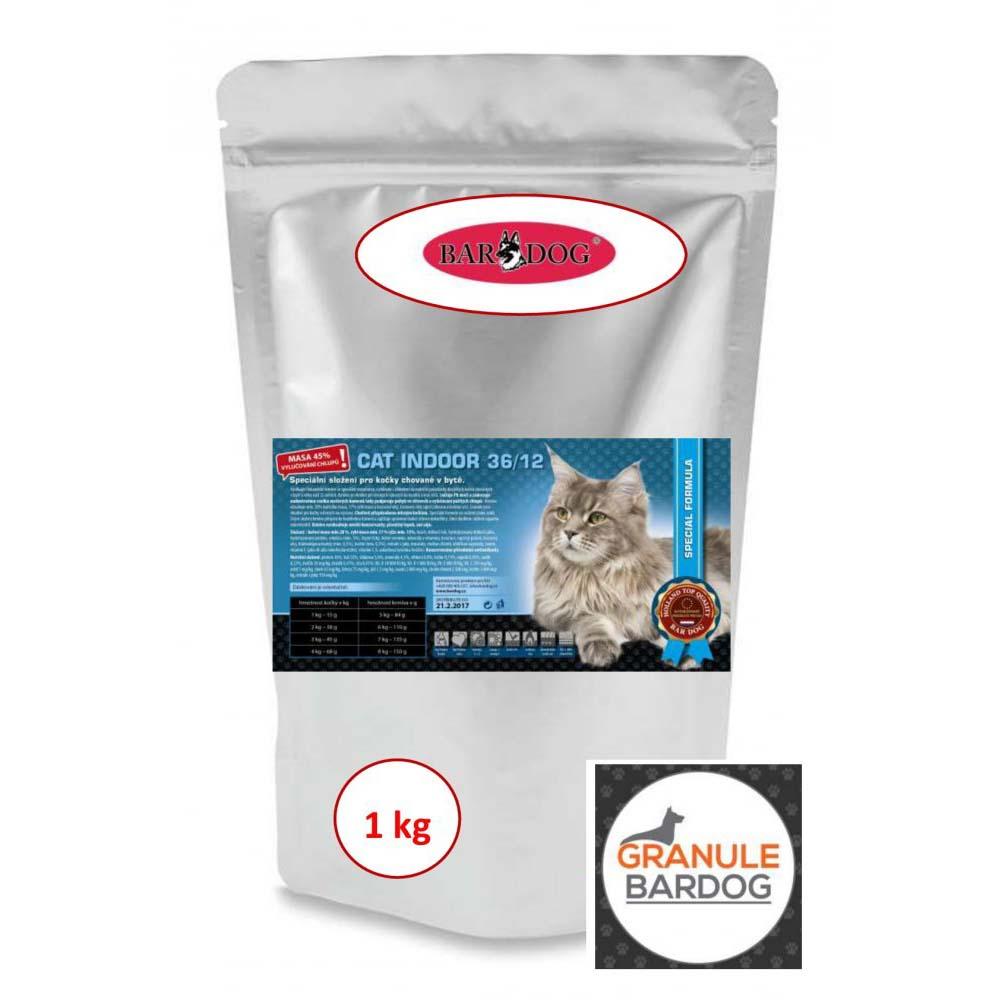 Bardog Krmivo pro kočky Cat Indoor 36/12 1 kg