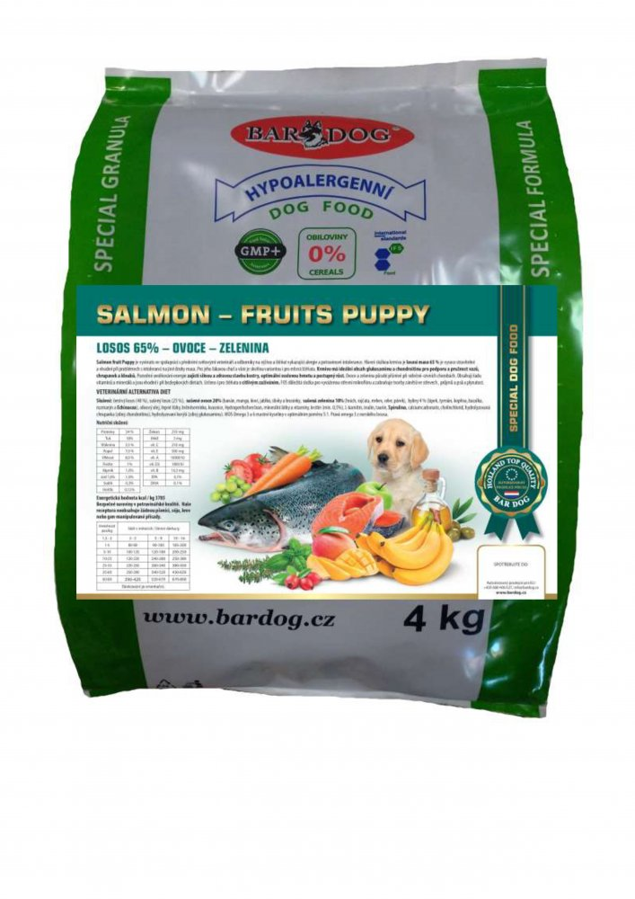 Bardog Salmon Fruits Puppy 4 kg