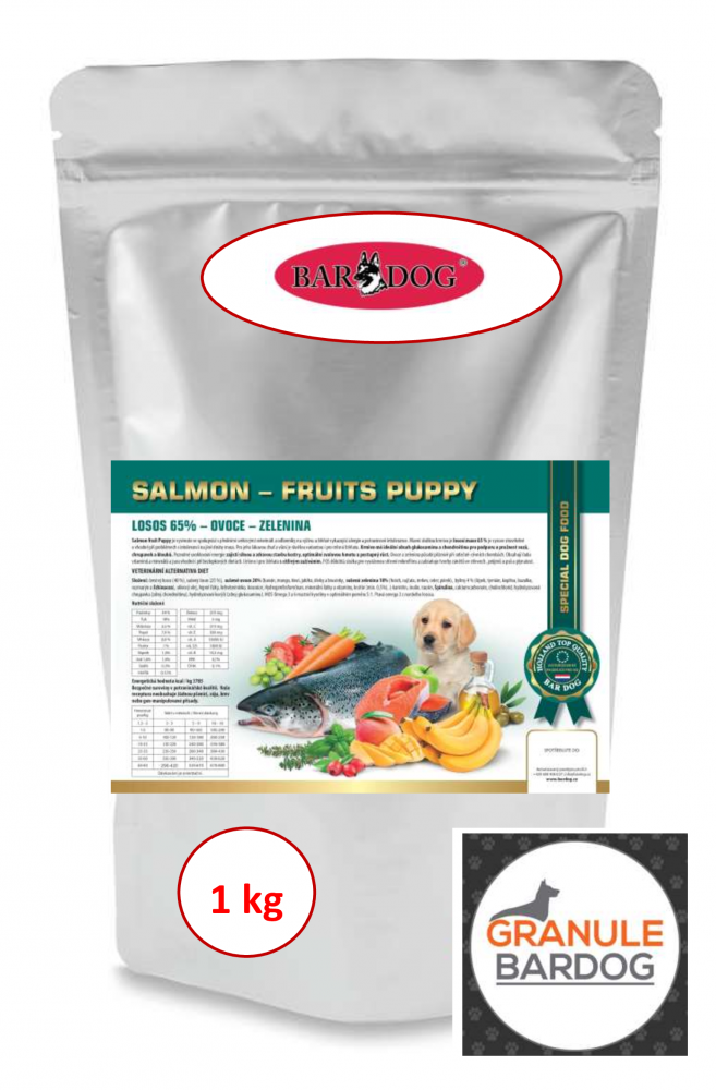 Bardog Salmon Fruits Puppy 1 kg