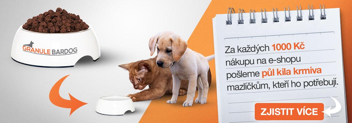 GranuleBardog.cz pomáhají potřebným mazlíčkům