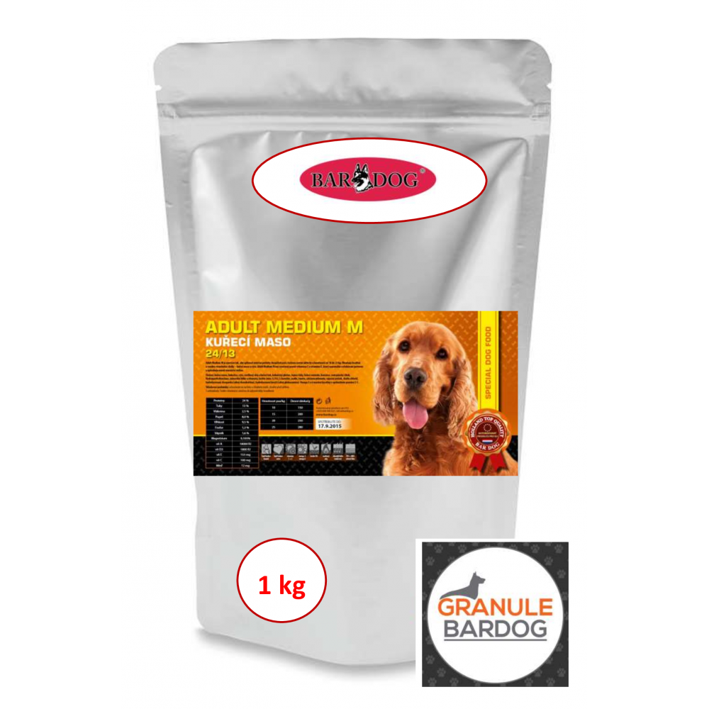 Bardog Super prémiové granule Adult Medium M 24/13 1 kg