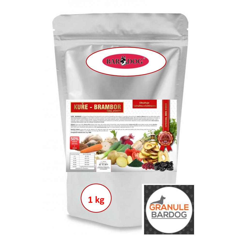 Bardog Hypoalergenní granule pro kočky Hypo Cat 60 - Kuře Brambor 32/18 1 kg
