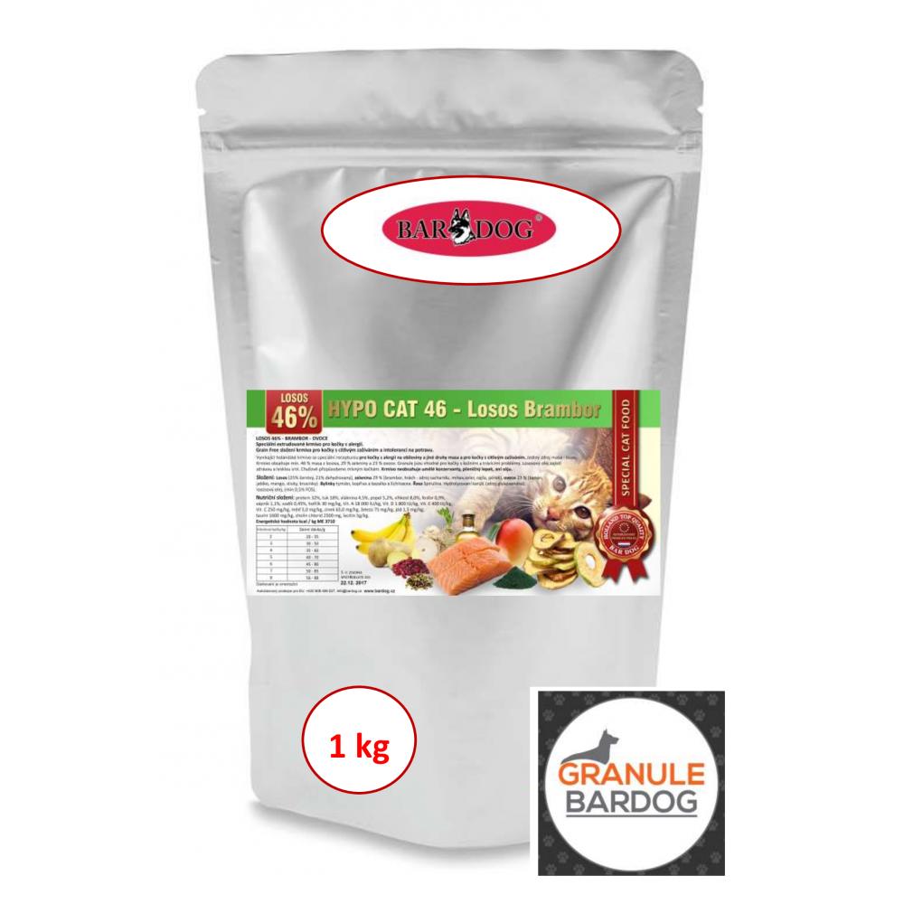 Hypoalergenné granule pre mačky Hypo Cat 46 - Losos Brambor 32/18 1 kg