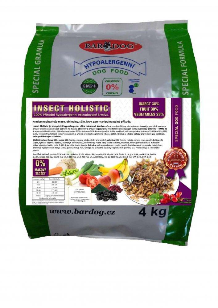 Bardog Hypoalergenní grain free granule Insect Holistic 4 kg