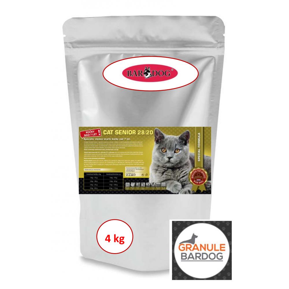 Bardog Super prémiové krmivo Cat Senior 28/20 4 kg