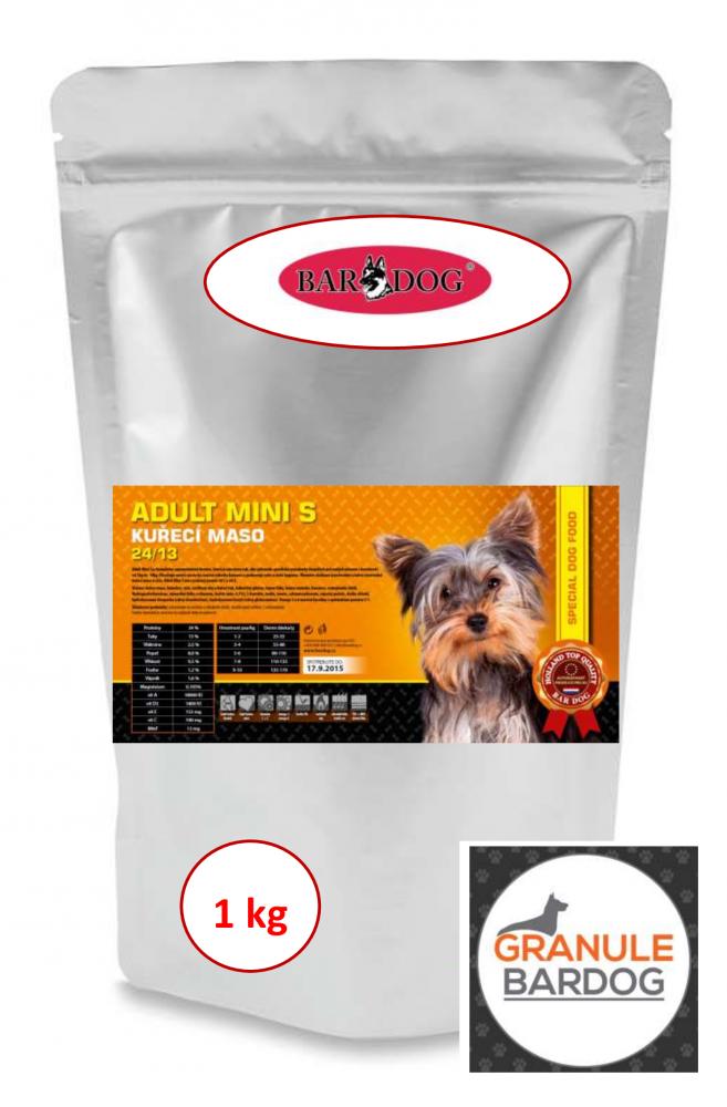 Bardog Super premiové granule Adult Mini S 24/13 1 kg