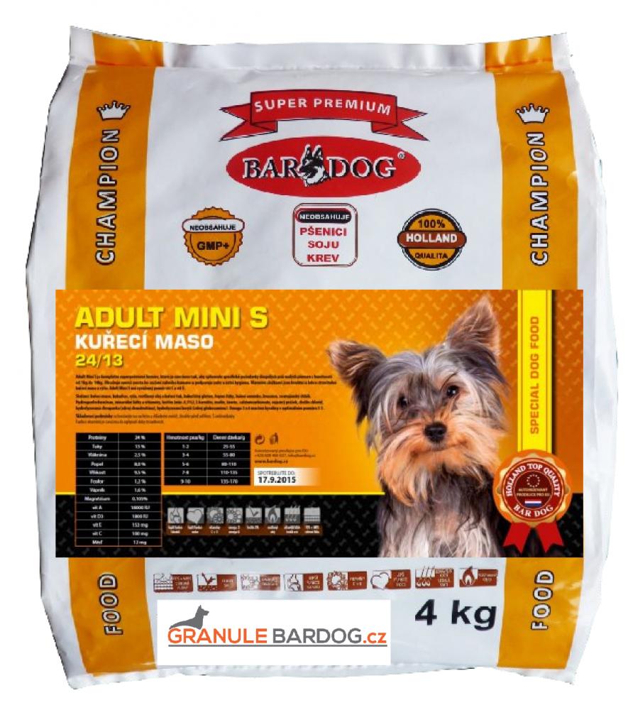 Bardog Adult Mini S super premium 24/13 - 4 kg